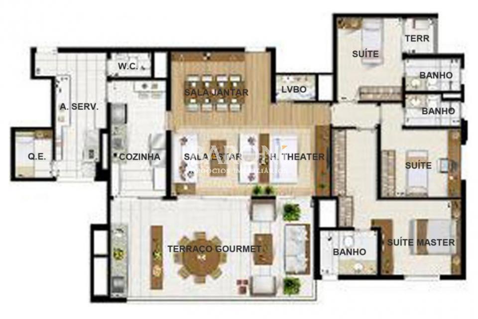 Apartamento de 4 dormitórios à venda em Chac. Sto Antonio, São Paulo - SP
