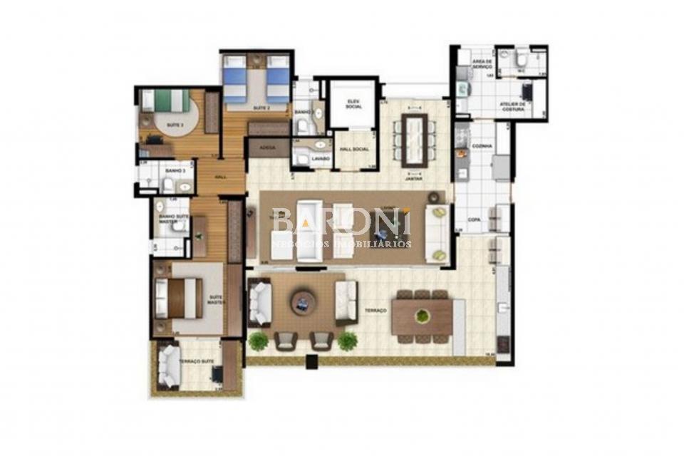 Apartamento de 3 dormitórios à venda em Klabin, São Paulo - SP